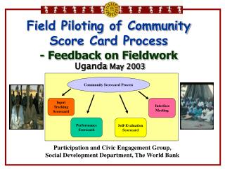 Field Piloting of Community Score Card Process - Feedback on Fieldwork  Uganda  May 2003