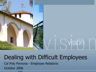 Dealing with Difficult Employees