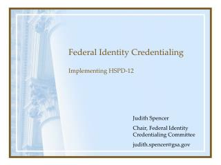 Federal Identity Credentialing