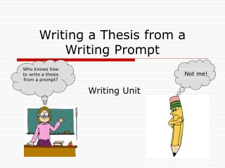 Writing a Thesis from a Writing Prompt