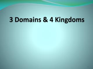 3 Domains & 4 Kingdoms