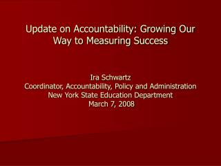 The Challenge of Accountability