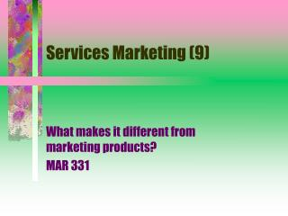 Services Marketing (9)