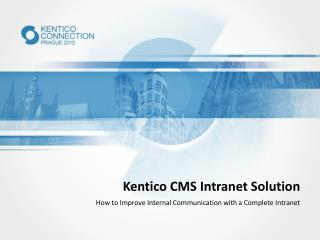 Kentico  CMS Intranet Solution