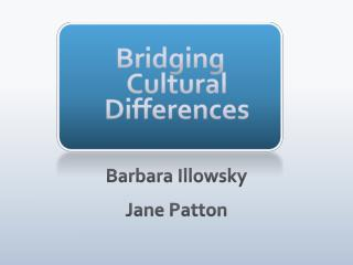 Bridging Cultural Differences