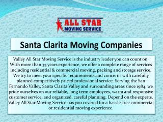 Santa Clarita Moving Companies