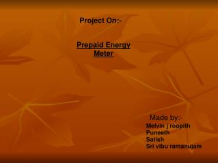 Project On:-