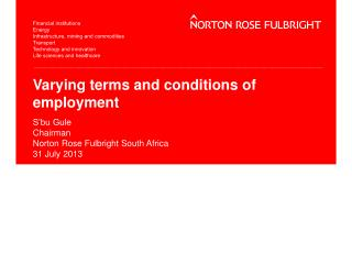Varying terms and conditions of employment
