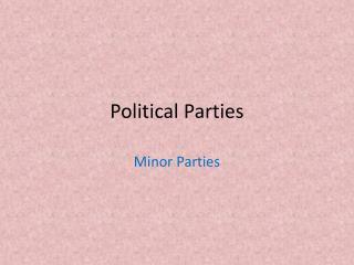 Political Parties