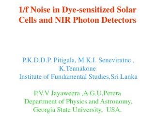 Dye-sensitized photon detector