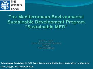 Sub-regional Workshop for GEF Focal Points in the Middle East, North Africa, & West Asia