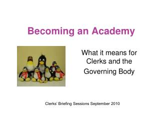 Becoming an Academy