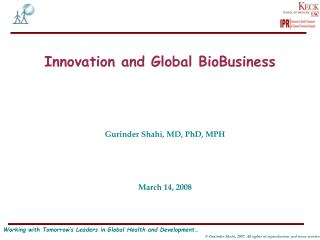 Innovation and Global BioBusiness