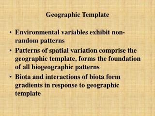 Geographic Template