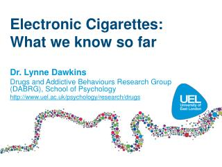 Electronic Cigarettes:   What we know so far