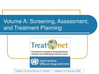 Volume A: Screening, Assessment, and Treatment Planning