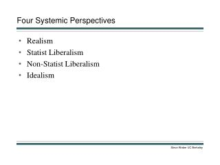 Four Systemic Perspectives