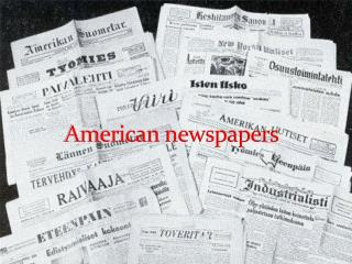 American newspapers