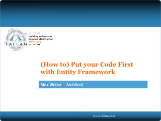 ( How to) Put your Code First with Entity Framework