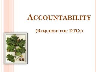 Accountability (Required for DTCs)