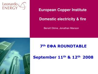 European Copper Institute Domestic electricity & fire