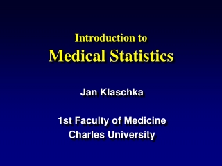 Introduction to Clinical Biostatistics for Medical Students