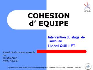 COHESION  d' EQUIPE