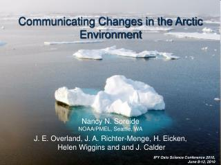 Communicating Changes in the Arctic Environment