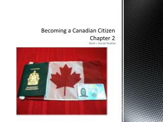Becoming a Canadian Citizen Chapter 2