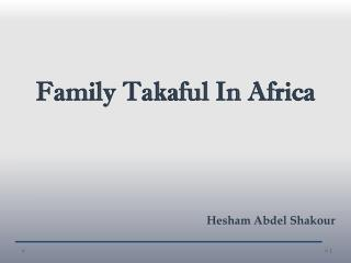 Family Takaful In Africa