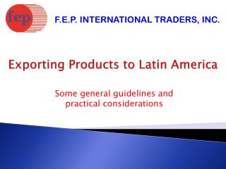 Exporting Products to Latin America