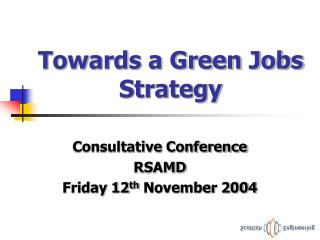 Towards a Green Jobs Strategy