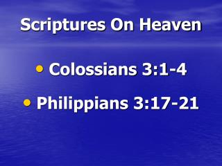 Scriptures On Heaven