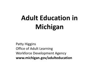 Adult Education in Michigan