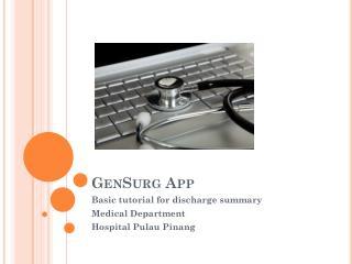 GenSurg App