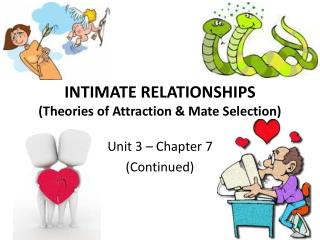 INTIMATE RELATIONSHIPS (Theories of Attraction & Mate Selection)