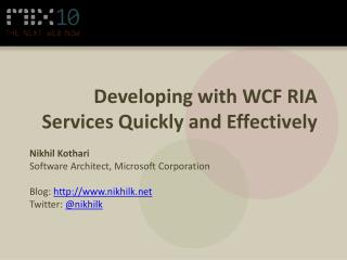 Developing with WCF RIA Services Quickly and Effectively