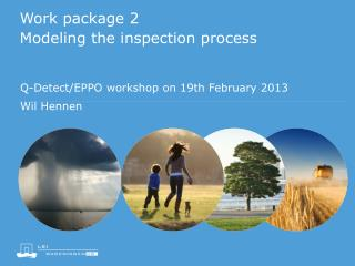 Work package 2 Modeling the inspection process