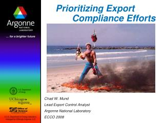 Prioritizing Export     	Compliance Efforts
