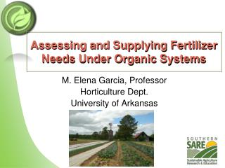 Assessing and Supplying Fertilizer Needs Under Organic Systems