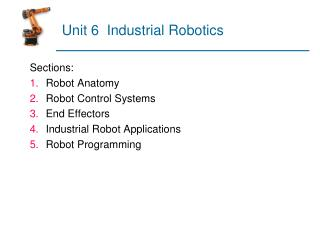 Unit 6  Industrial Robotics