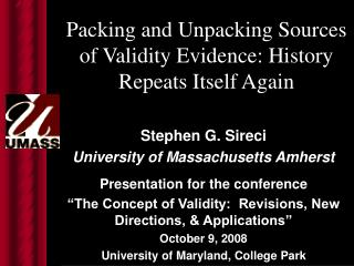 Packing and Unpacking Sources of Validity Evidence: History Repeats Itself Again