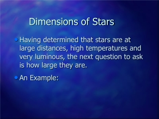 Dimensions of Stars