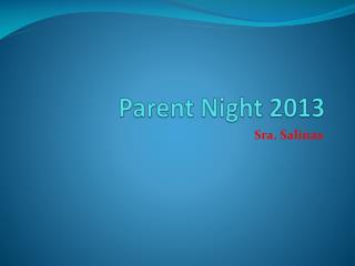 Parent Night 2013
