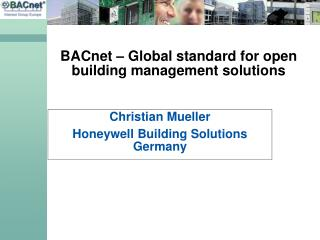 BACnet – Global standard for open building management solutions