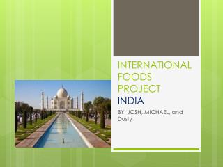 INTERNATIONAL FOODS PROJECT INDIA