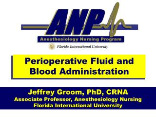 Perioperative Fluid and Blood Administration