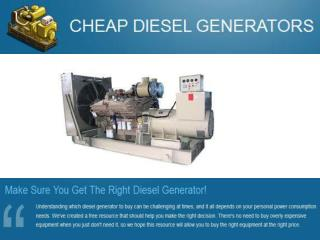 Cheap Diesel Generators