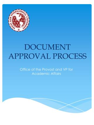 DOCUMENT APPROVAL PROCESS