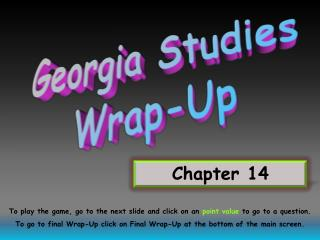 Georgia Studies Wrap-Up